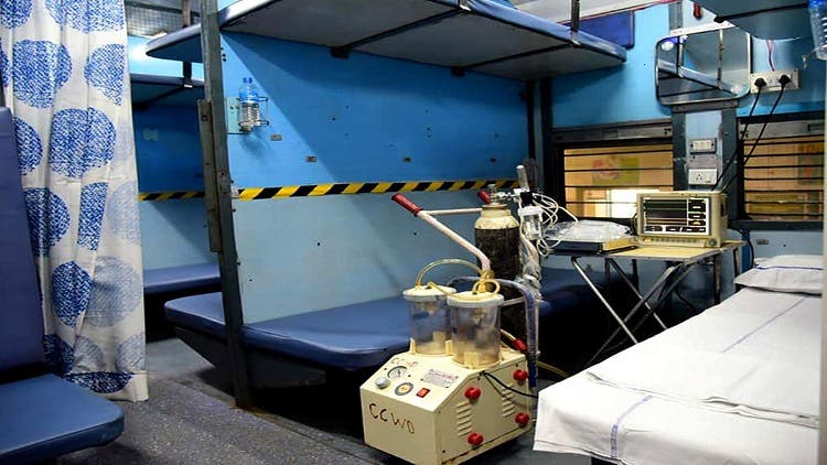 Converting Train Coaches Into Isolation Wards