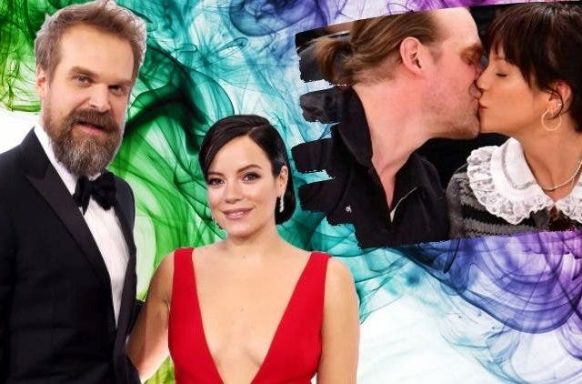 David Harbour Lily Allen Birthday
