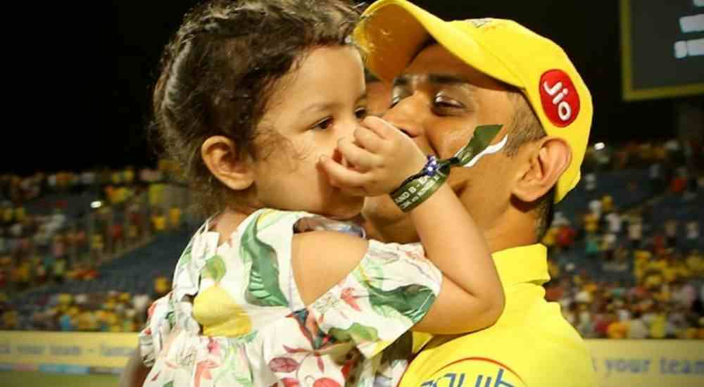 Dhoni Father Daughter Ziva