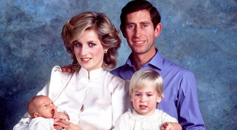 Princess Diana with her family