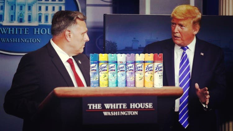 Lysol Refutes President Trump's 'Inject Disinfectant' Suggestion