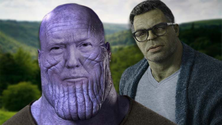 Hulk Green — Mark Ruffalo Takes On 'Real Thanos' Donald Trump