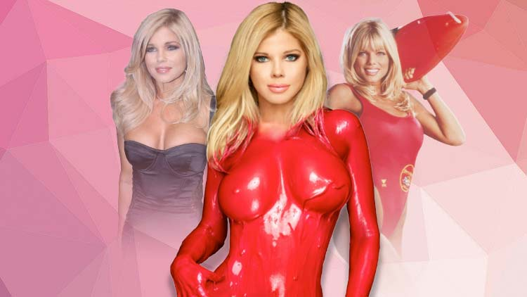 Baywatch Star Donna D'Errico Wears Nothing, But Red Paint