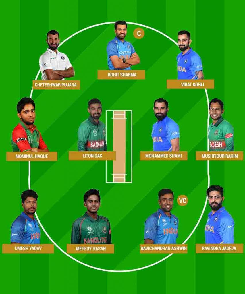 Dream 11 India Bangladesh Test Cricket Sports DKODING