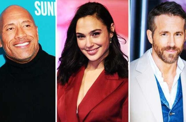 Dwayne-Johnson-Gal-Gadot-Ryan-Reynold-Hollywood-Entertainment-DKODING