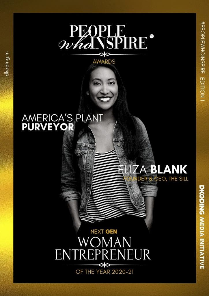 Eliza Blank People Who Inspire PWI Woman Entrepreneur of the Year Award 2020-21