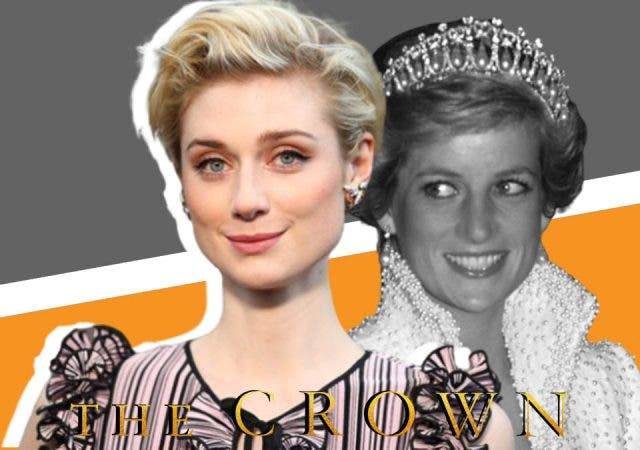 Elizabeth as Princess Diana
