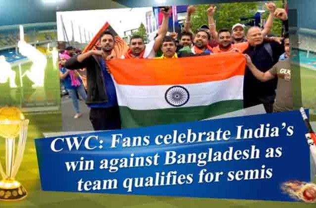 Fans-Celebrate-India's-Win-Against-Wangladesh