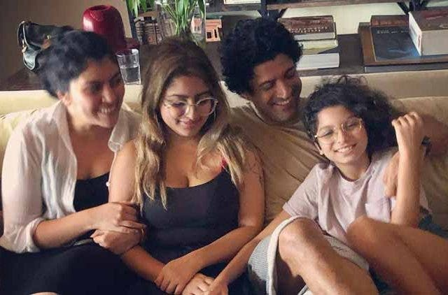 Farhan-Akhtar-and-Daughters-Entertainment-Bollywood-DKODING