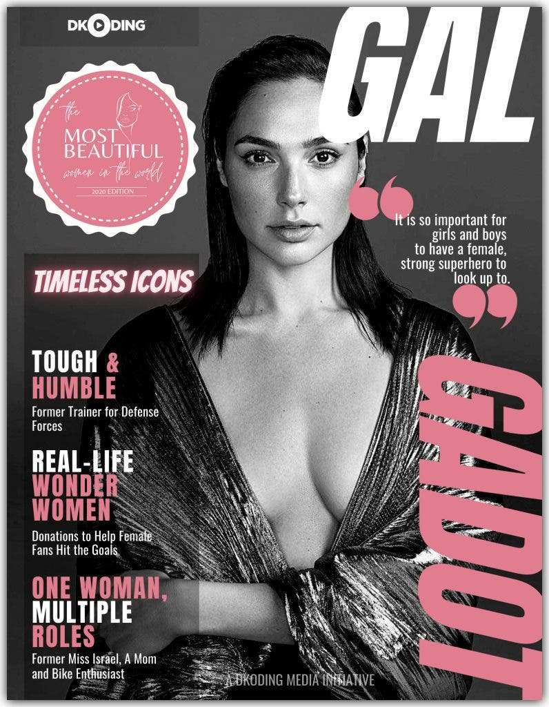 Gal Gadot among the Most Beautiful Women in the World at the People Who Inspire (PWI) Awards 2020