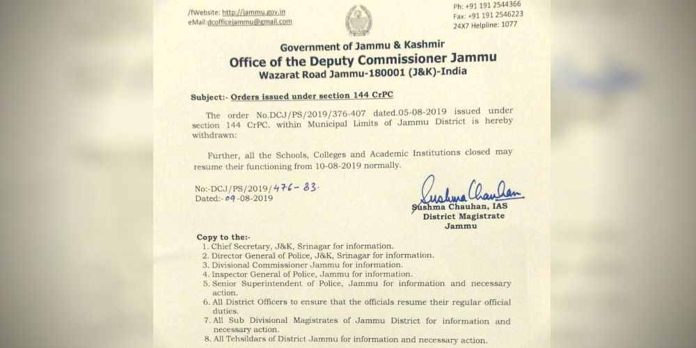 Govt-Section-144-Withdrawn-Jammu-News-More-DKODING