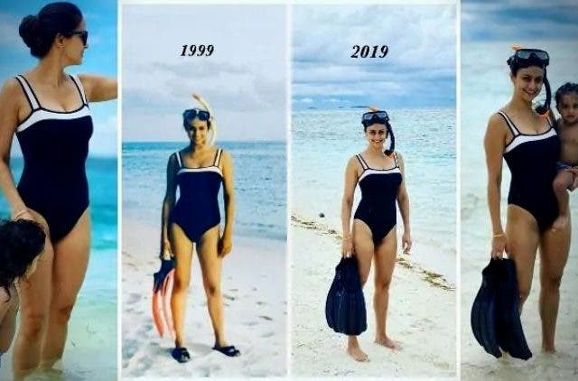 Gul Panag Blue Swimsuit Trending Today DKODING