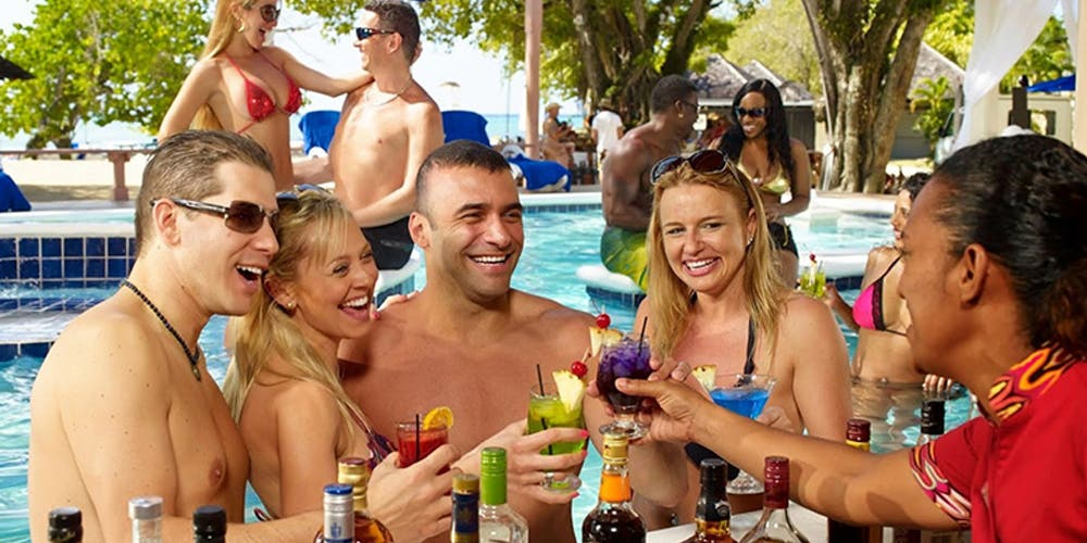 The pool cocktail party