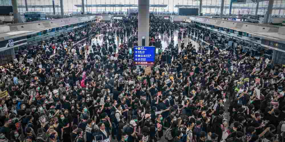 Hong-Kong-Protest-Airport--2nd-Day-Global-Politics-DKODING