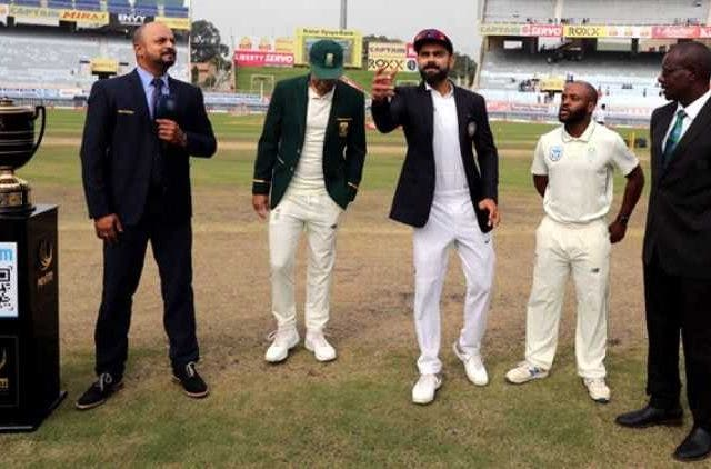 India South Africa Ranchi Test Toss Cricket Sports DKODING