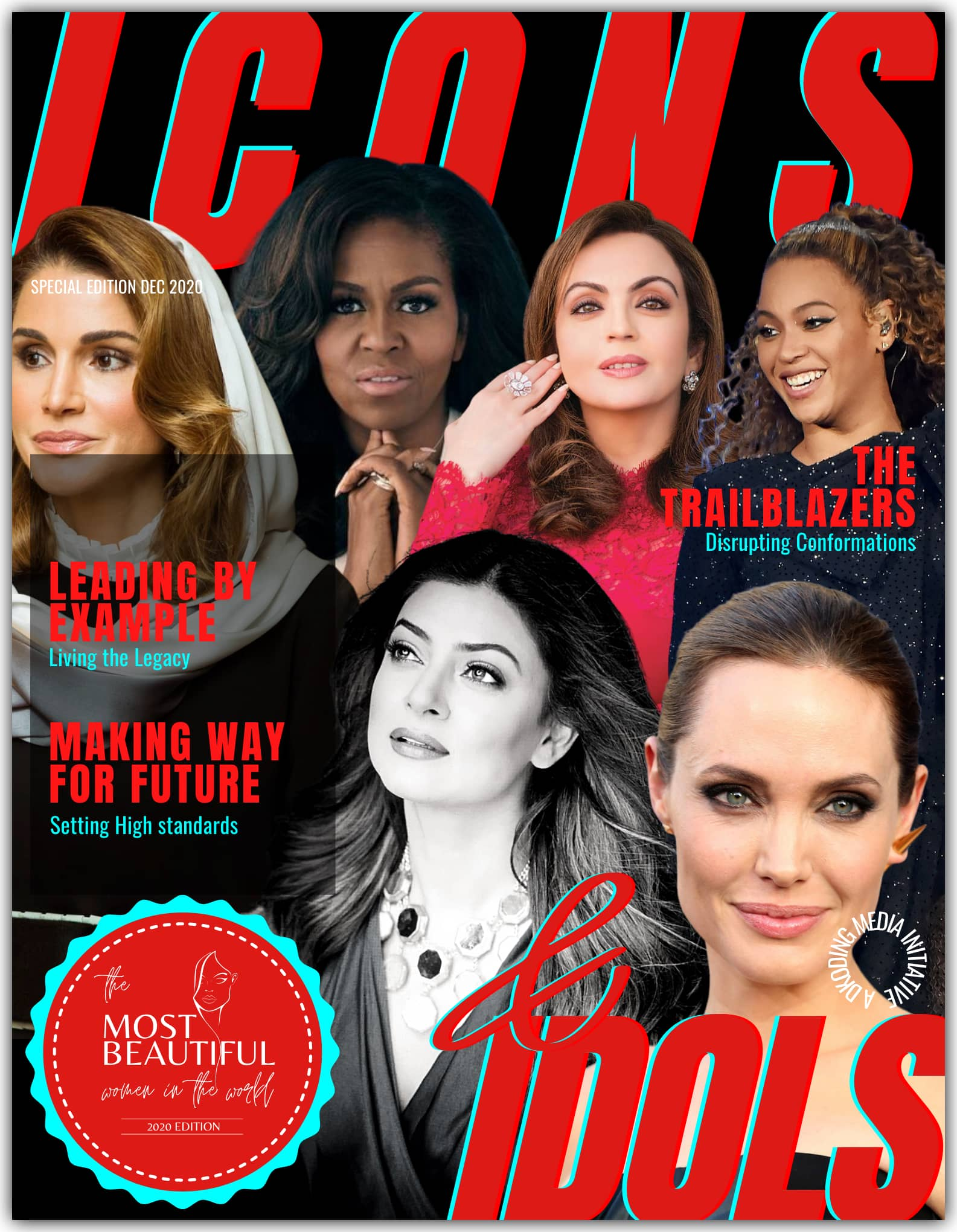 People Who Inspire PWI Most Beautiful Women in the World 2020 - Icons & Idols League - Michelle Obama, Angelina Jolie, Beyonce, Sushmita Sen, Queen Rania, Nita Ambani