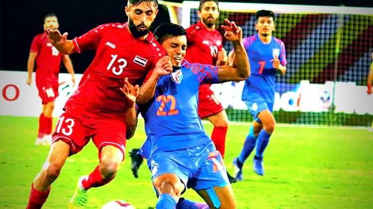 India-Vs-Syria-Indian-Football-Team-Chhetri-Goal-Narender-Gahlot-Intercontinental-Cup-Football-Sports-DKODING