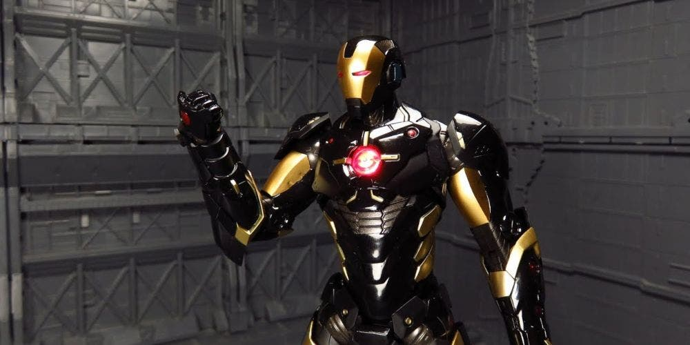 Iron man in an evil avatar wears a black suit of armour | NewsShot | DKODING