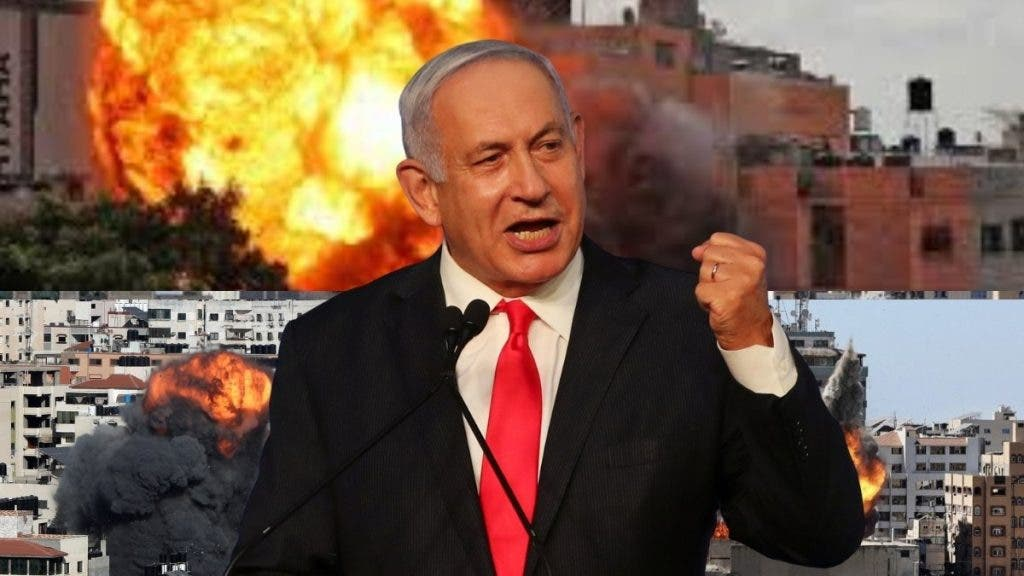 PM Benjamin Netanyahu has stated that Israel will continue with aerial strikes targeting Hamas targets in Gaza despite mounting civilian death toll.