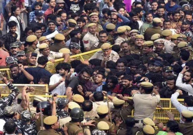 JNU Students Protest and Police Brutally Lathicharged