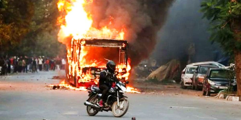 Delhi Police Ignited the flames of fire in the National Capital