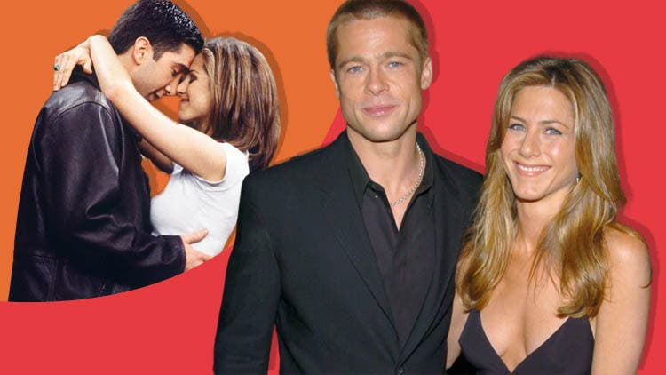 How Brad Pitt And Jennifer Aniston's Relationship Is Similar To FRIENDS' Characters Ross And Rachel