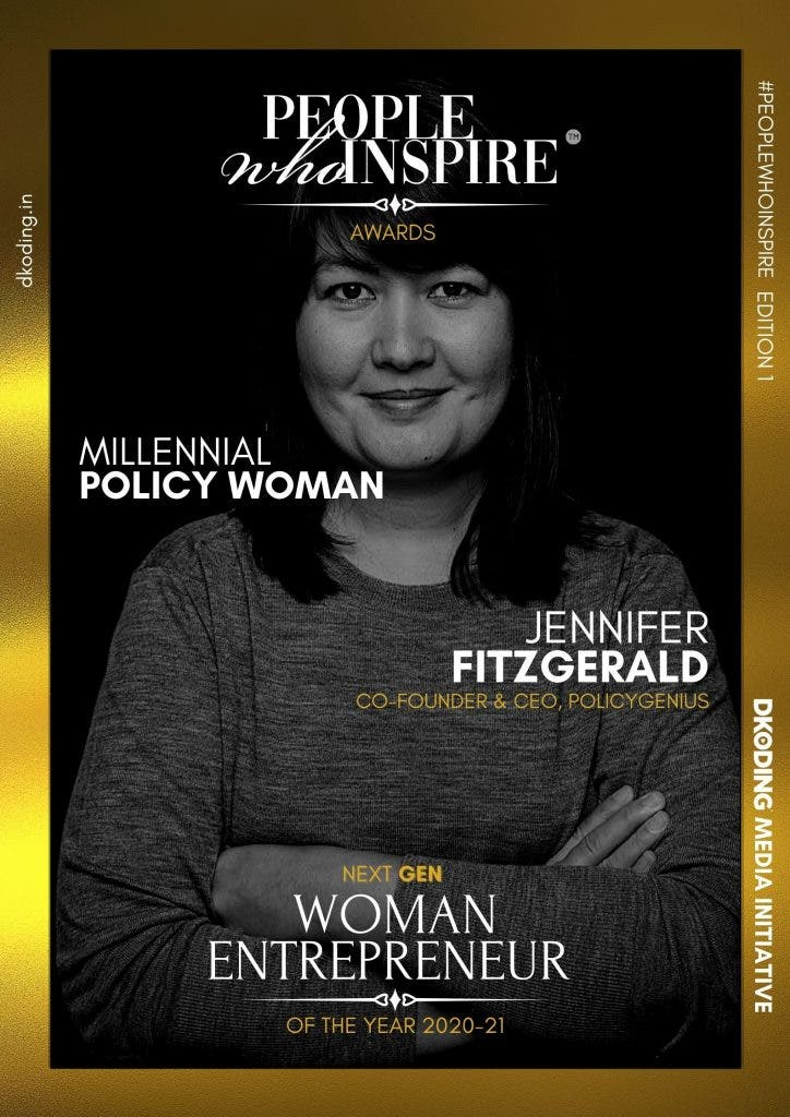 Jennifer Fitzgerald People Who Inspire PWI Woman Entrepreneur of the Year Award 2020-21