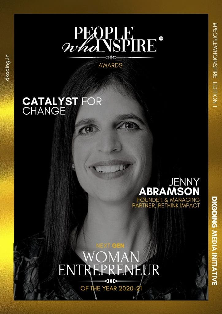 Jenny Abramson People Who Inspire PWI Woman Entrepreneur of the Year Award 2020-21