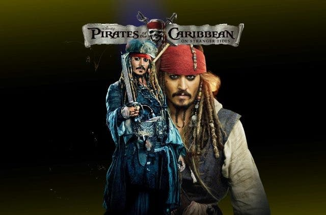 Johnny Depp's Pirate in trouble