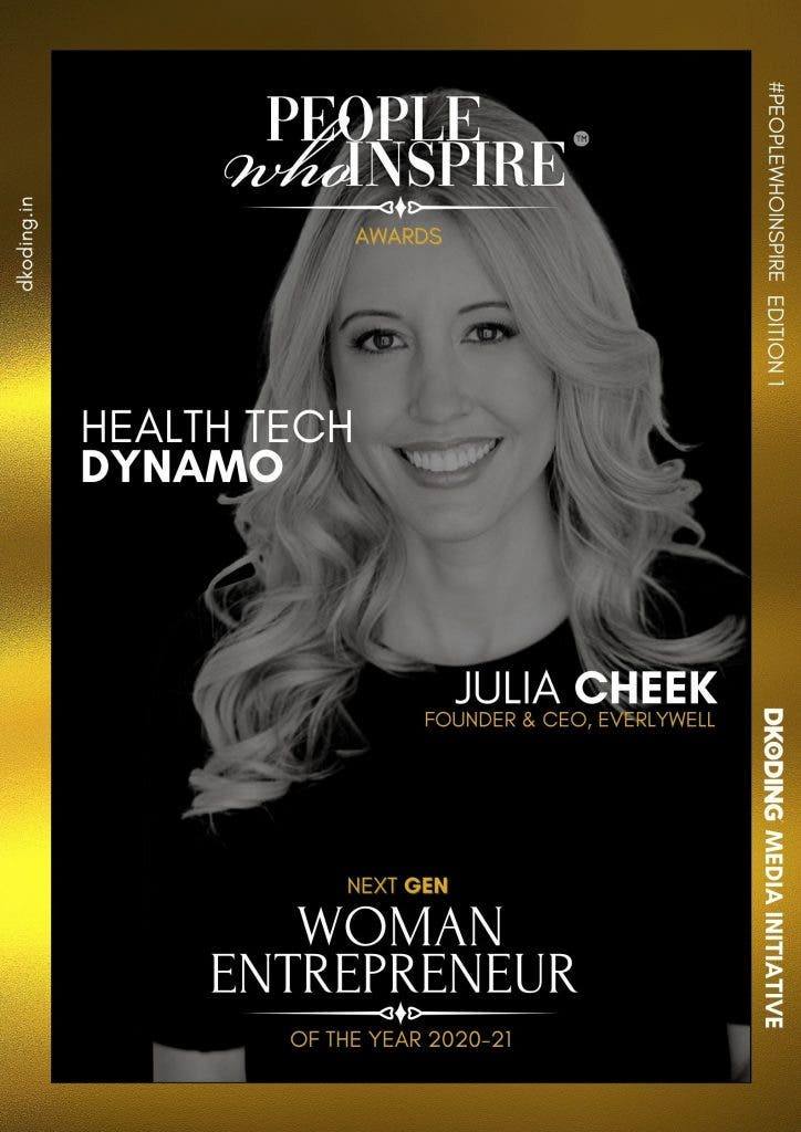 Julia Cheek People Who Inspire PWI Woman Entrepreneur of the Year Award 2020-21