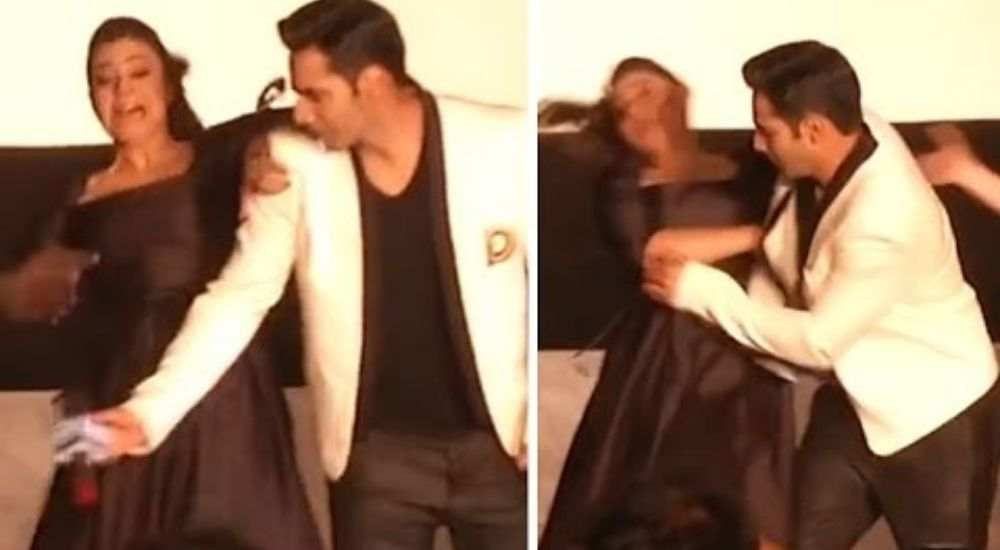 Kajol falling down on the stage DKODING