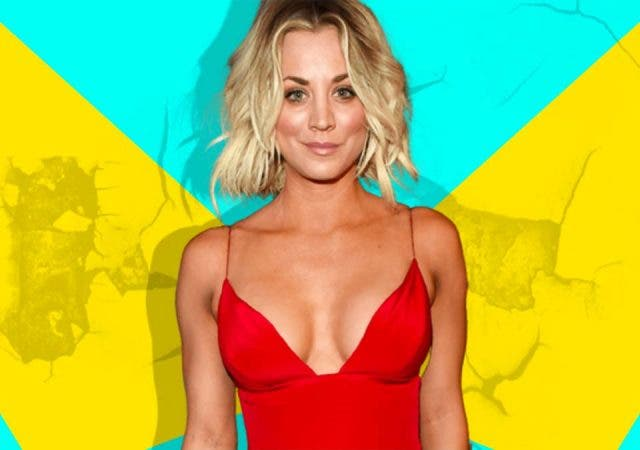 Kaley Cuoco does weird things in her bathroom