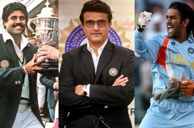 Kapil Dev Ganguly Dhoni India Captains Cricket Sports DKODING