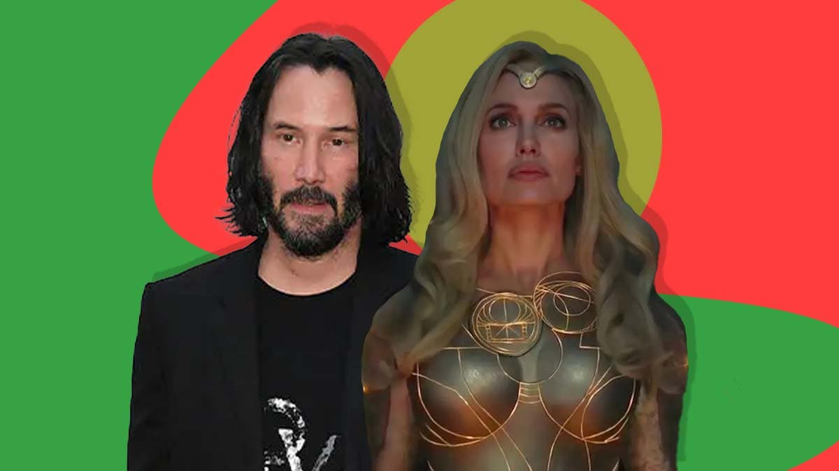 Is Keanu Reeves frustrated with Angelina Jolie's tantrums on 'The Eternals'?