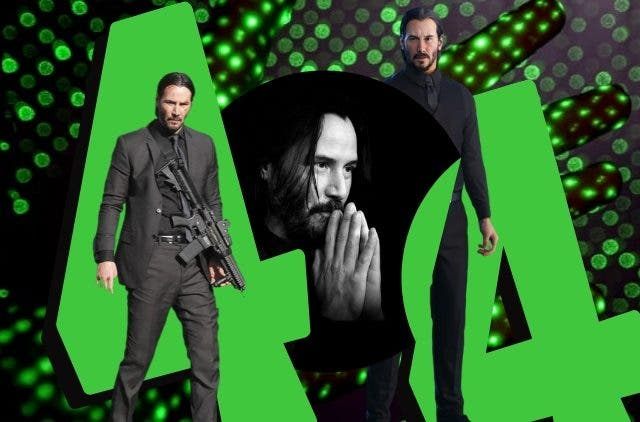 Keanu Reeves in Matrix and John Wick