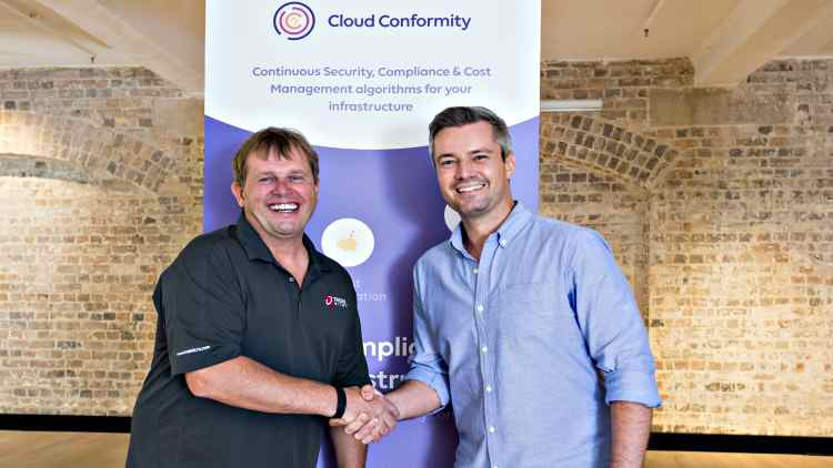 Kevin-Simzer-COO-Trend-Micro-Michael-Watts-CEO-Cloud-Conformity-Companies-Business-DKODING