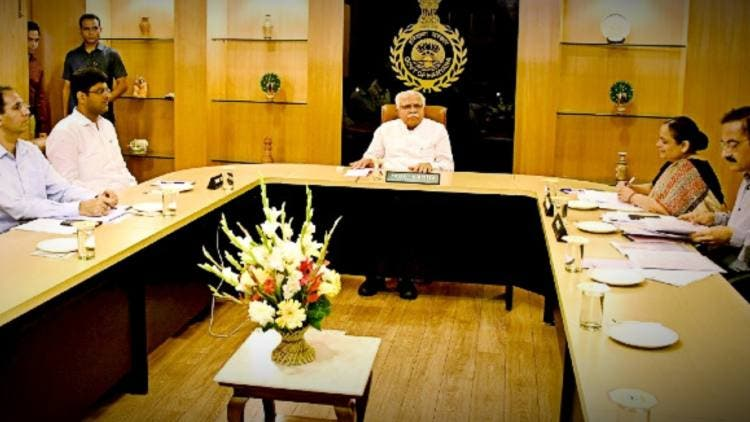 Khattar Cabinet Meets In Delhi Assembly Session India DKODING