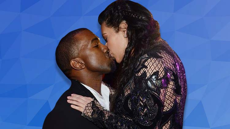 Kim and Kanye Caught In The Perfect Sensuous Kiss In A Paris Elevator
