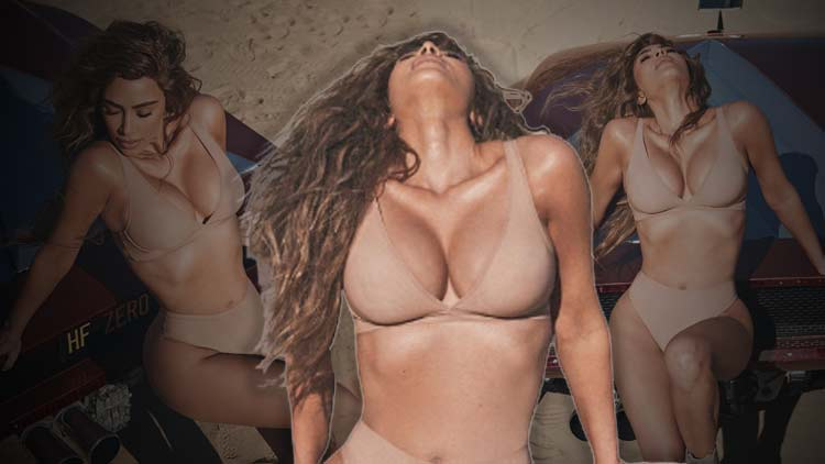 Kim Kardashian Looks Curvalicious In Her Lingerie From SKIMS Naked Collection