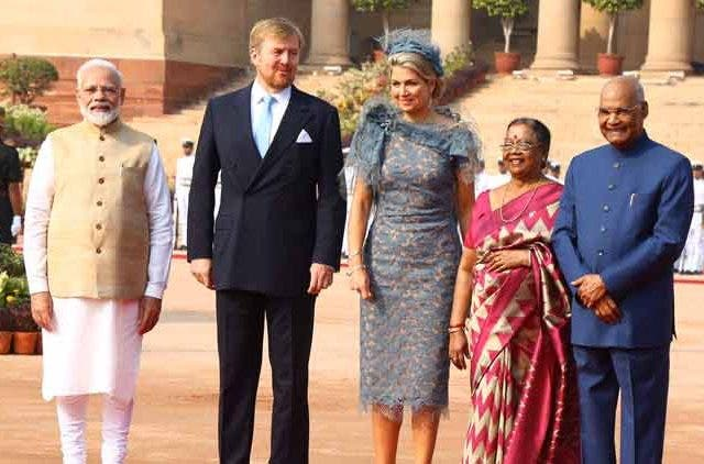 King of Netherlands receives ceremonial reception at Rashtrapati Bhavan DKODING