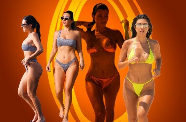 Kourtney Kardashian Orange Bikini DKODING