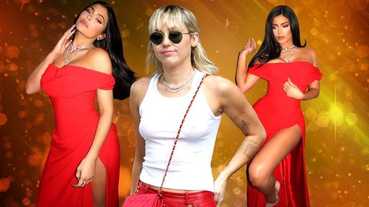 Kylie And Miley Paint The Town Red On Valentine's Day