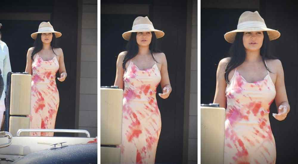 Kylie-Jenner-Without-Makeup-Pink-Dress-Trending-Today-DKODING