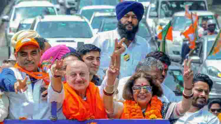 LS-Polls-Actor-Anupam-Kher-Campaigns-For-Wife-Kirron-Kher-In-Chandigarh-India-Politics-DKODING