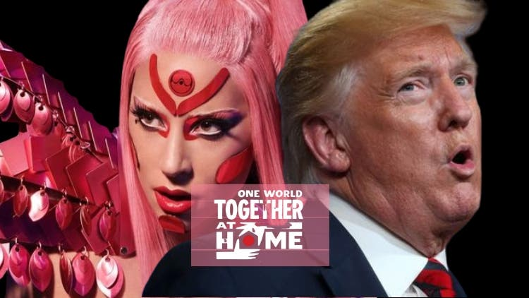 Together At Home: Lady Gaga Shuts The Door On Trump's Face — Savagery Level 99999
