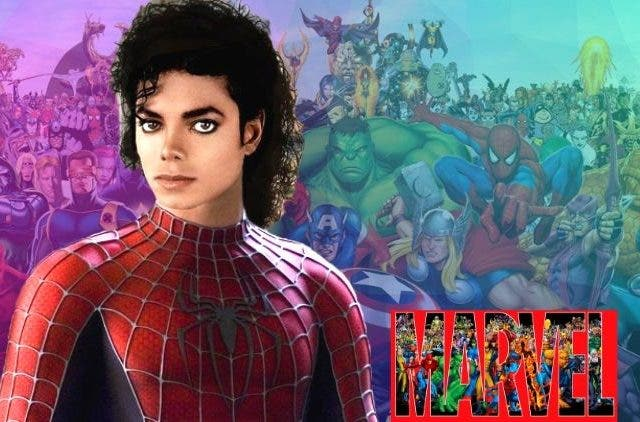 Lanky Michael Jackson as Spider-Man