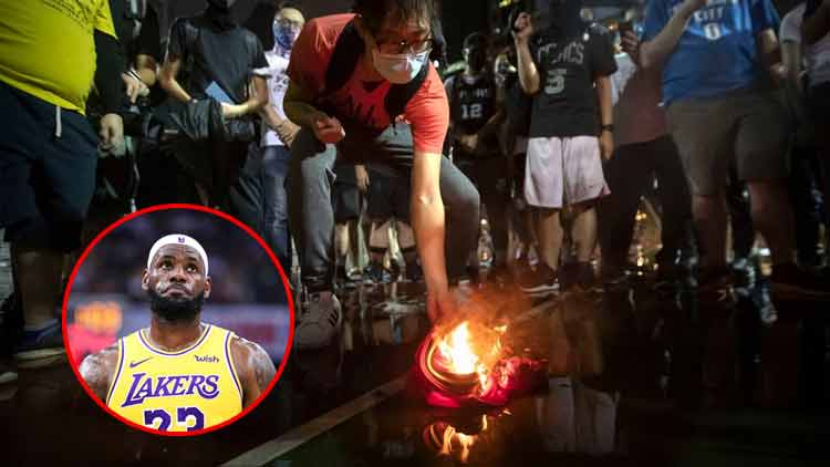 LeBron James China Controversy Jersey