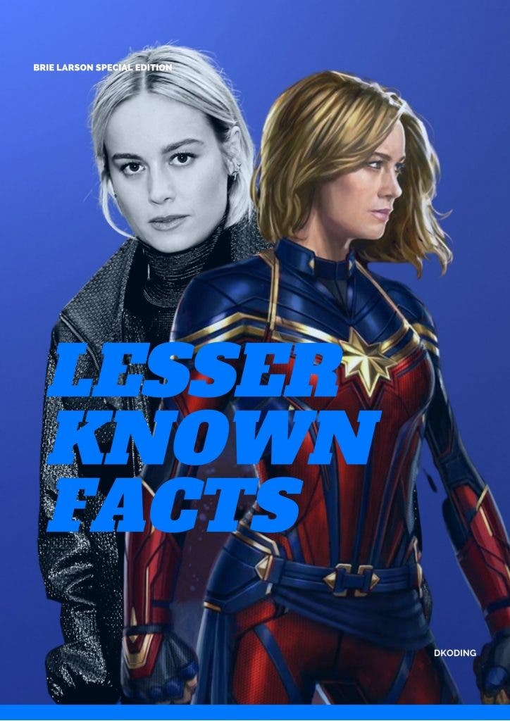 Lesser Known facts about Brie Larson