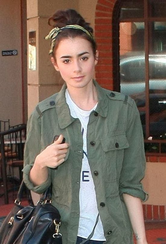 Lily-Collins-Hair-Scarf-Fashion-And-Beauty-Lifestyle-DKODING