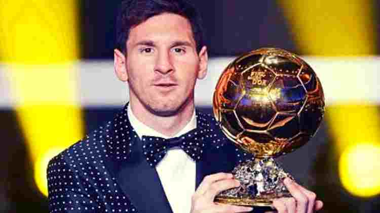 Lionel-Messi-With-Ballon-d'Or-Football-Sports-DKODING